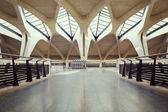 Empty airport hall way — Stock Photo