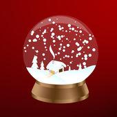 Snow ball — Stock Vector