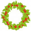 Christmas Wreath — Stock Vector #7304150