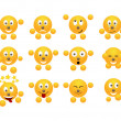 Set of emoticons. — Stock Vector