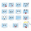 Set emoticons - Stock Vector