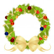 Christmas wreath — Stock Vector #7579810