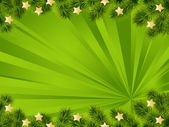 зеленый новогодний фон — Cтоковый вектор