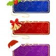 Set of celebratory labels - Stock Vector