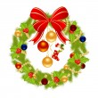 Christmas wreath — Stock Vector #7800138