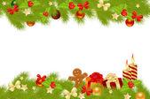 Noel kartı arka plan. — Stok Vektör