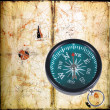 Ancient compass — Stock Photo