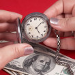 Watch and dollars — Stock Photo