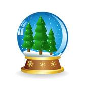 Ball with fir — Stock Vector