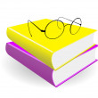 Royalty-Free Stock Vector Image: Spectacles and books