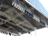 Structures of stage illumination lights equipment — Stock Photo