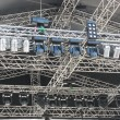 Structures of stage illumination lights equipment - Stock Photo