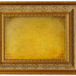 Foto de Stock  : Vintage golden picture frame with empty parchment
