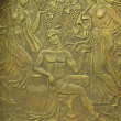 Copper bas-relief on the basis of ancient myths — Stock Photo