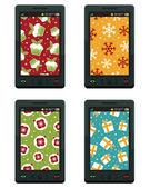 Telefones de natal — Vetorial Stock