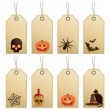 Halloween tags — Stock Vector #6864866