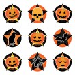 Stock Vector: Halloween icons