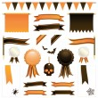 Orange and black ribbons — Stock Vector