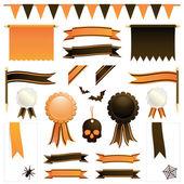 Оранжевый и черный ленты — Cтоковый вектор