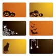 Halloween gift cards — Stock Vector #6948178