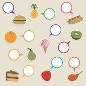 食品与标志 — 图库矢量图片