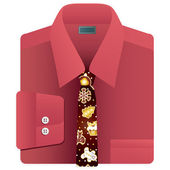 Christmas tie — Stock Vector