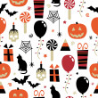 Halloween pattern — Stockvectorbeeld