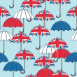 British umbrella pattern — Stock Vector