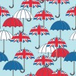 Stock Vector: British umbrella pattern