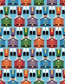 Nutcracker pattern — Stock Vector