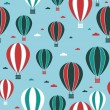 Hot air balloon pattern — Grafika wektorowa
