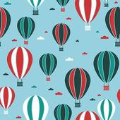 Heißluft-ballon-muster — Stockvektor