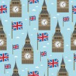 Great britain pattern — Stock Vector
