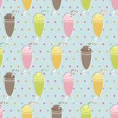 ミルクセーキ パターン — ストックベクタ