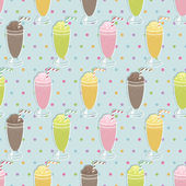 Milkshake pattern — Stock Vector