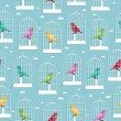 Birdcage pattern - Stok Vektr