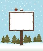 Winter sign post — Stock Vector