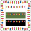 Stock Vector: Christmas lights