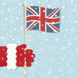 Great britain christmas - Stock Vector
