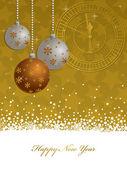 ゴールドの新しい年の背景 — ストックベクタ