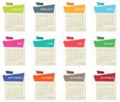2012 年のカレンダー — ストックベクタ