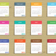 Calender for 2012 — Stock Vector