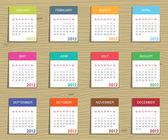 Kalender für 2012 — Stockvektor