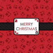 赤と黒のクリスマス — ストックベクタ