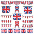 Great britain banners and bunting — Stock Vector