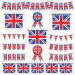 Great britain banners and bunting - Stock Vector