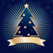 Mavi ve altın christmas — Stok Vektör