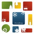 Christmas labels - Stock Vector