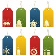 Christmas tags - Stockvectorbeeld
