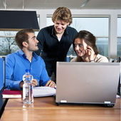 Workgroup students — Stock Photo